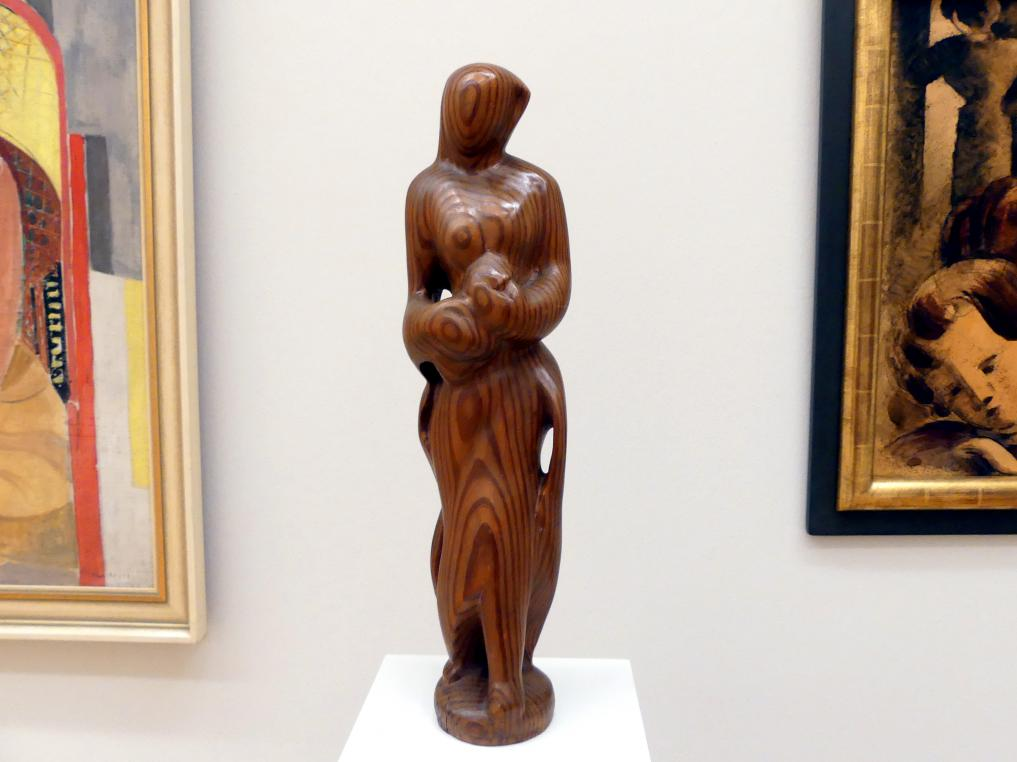 Marg Moll: Gestalt mit Blumen, 1947