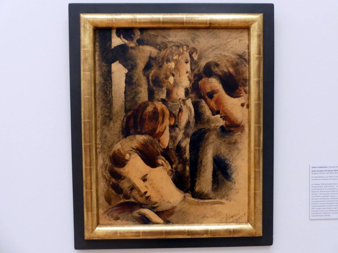 Oskar Schlemmer: Helle Gruppe mit blauer Blonder, 1937