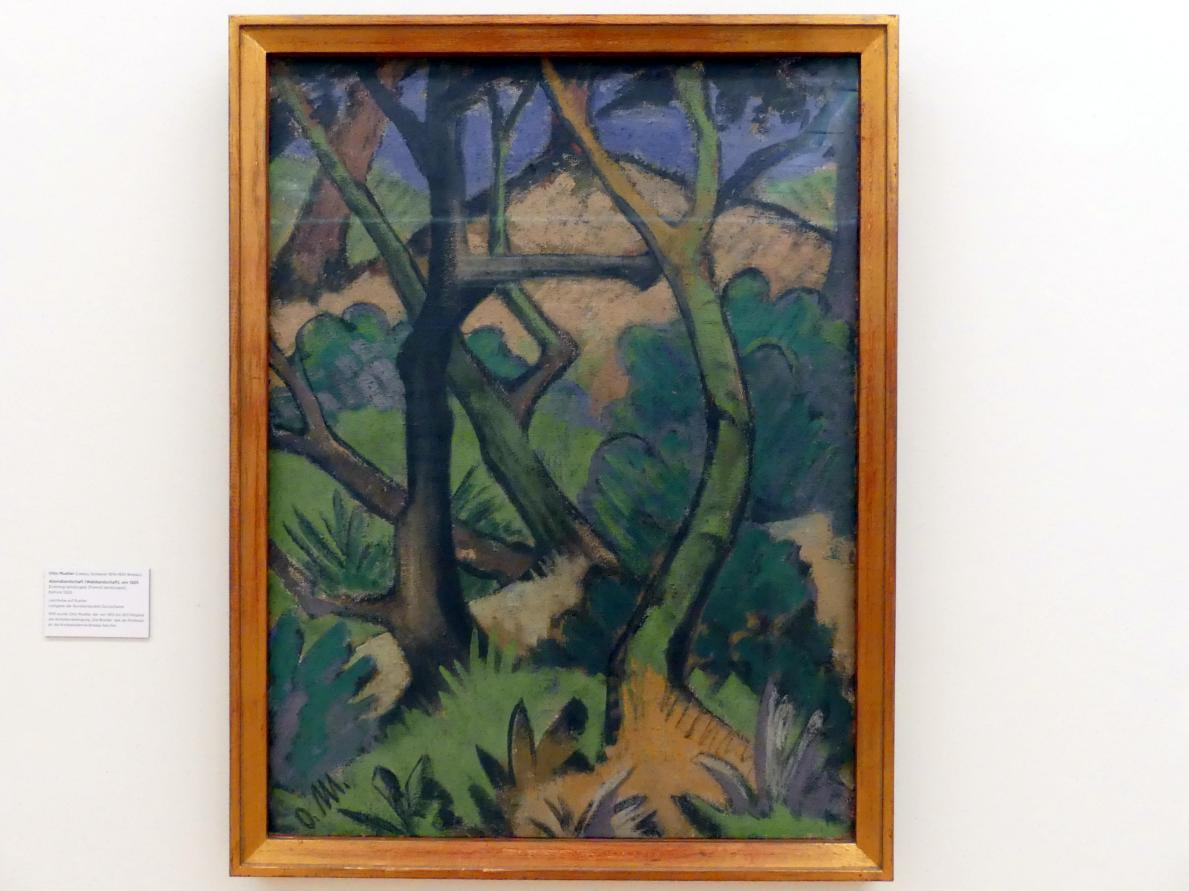 Otto Mueller: Abendlandschaft (Waldlandschaft), vor 1925