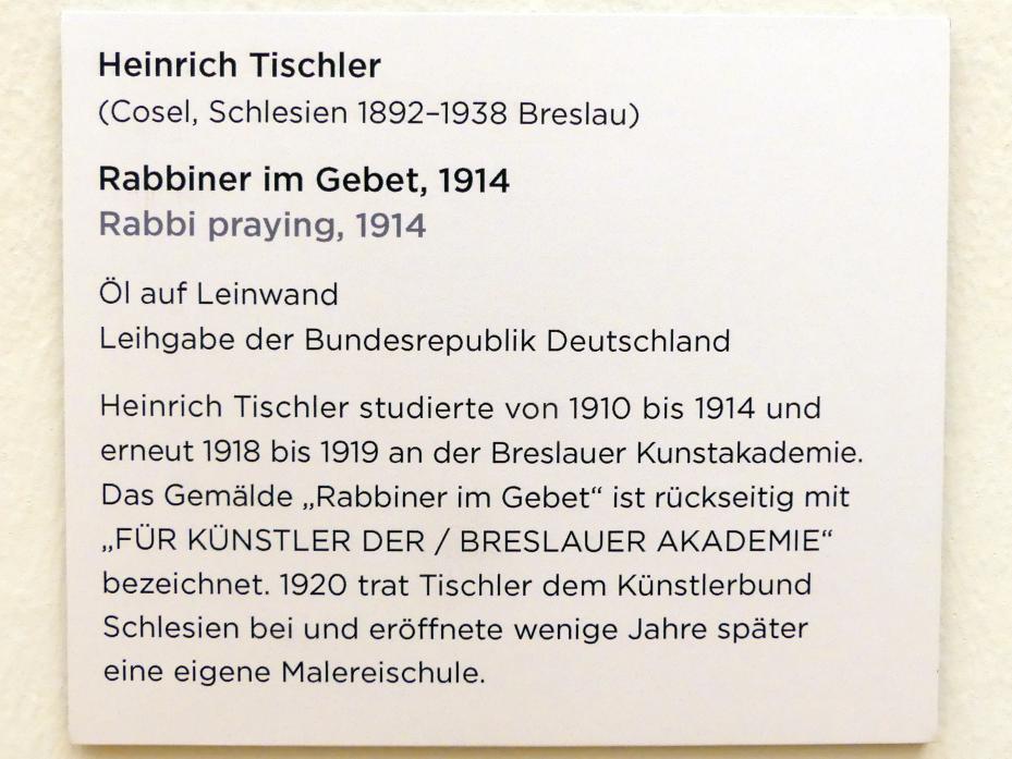 Heinrich Tischler: Rabbiner im Gebet, 1914, Bild 2/2