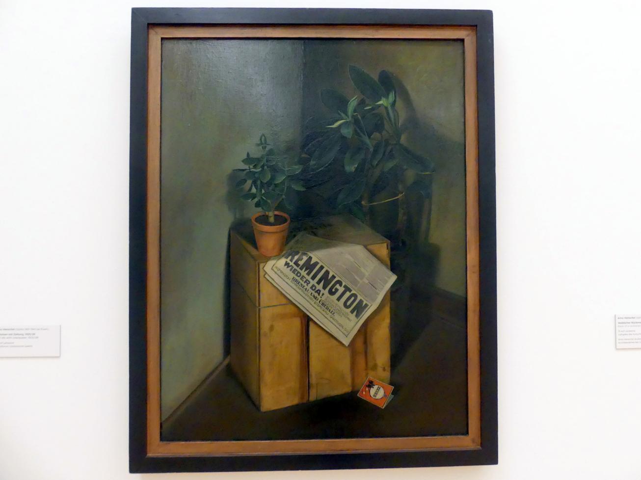 Arno Henschel: Stillleben mit Zeitung, 1925 - 1926, Bild 1/2