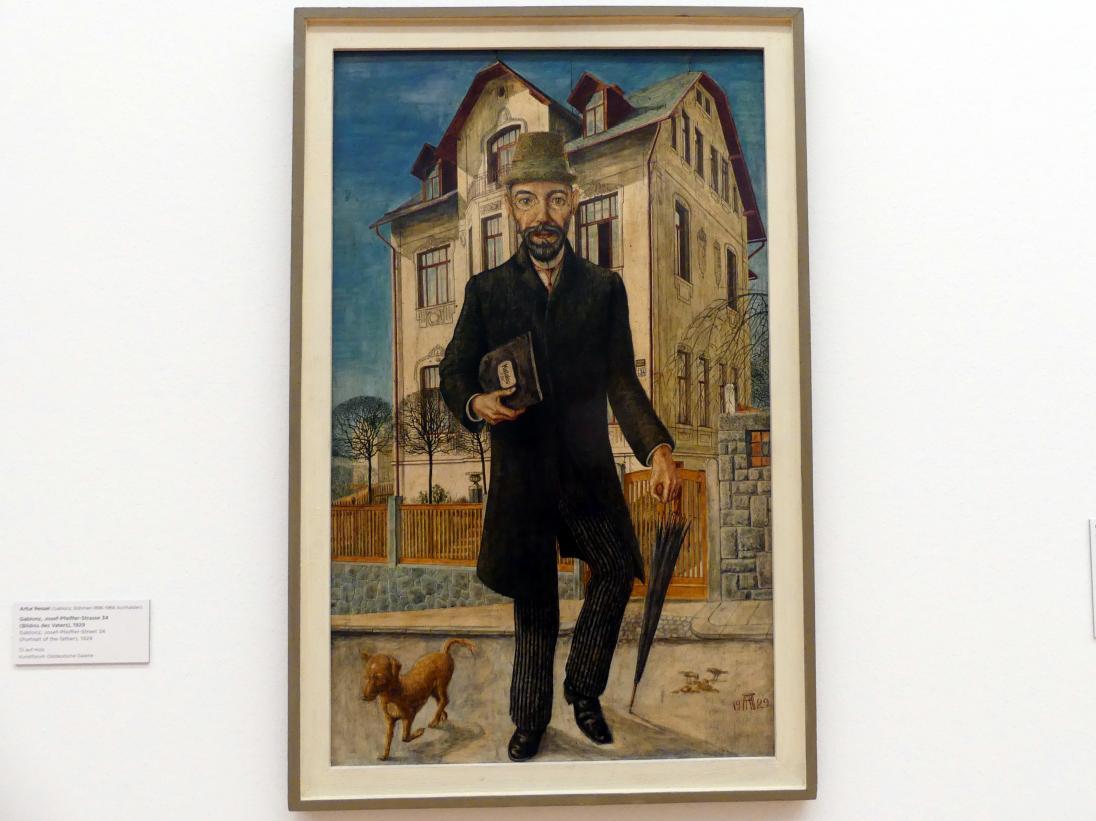 Artur Ressel: Gablonz, Josef-Pfeiffer-Strasse 34 (Bildnis des Vaters), 1929