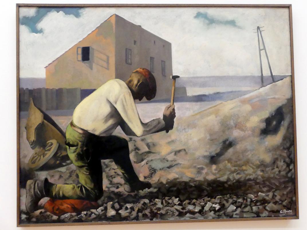 Ernst (Ernest) Neuschul: Der Steinklopfer, 1929