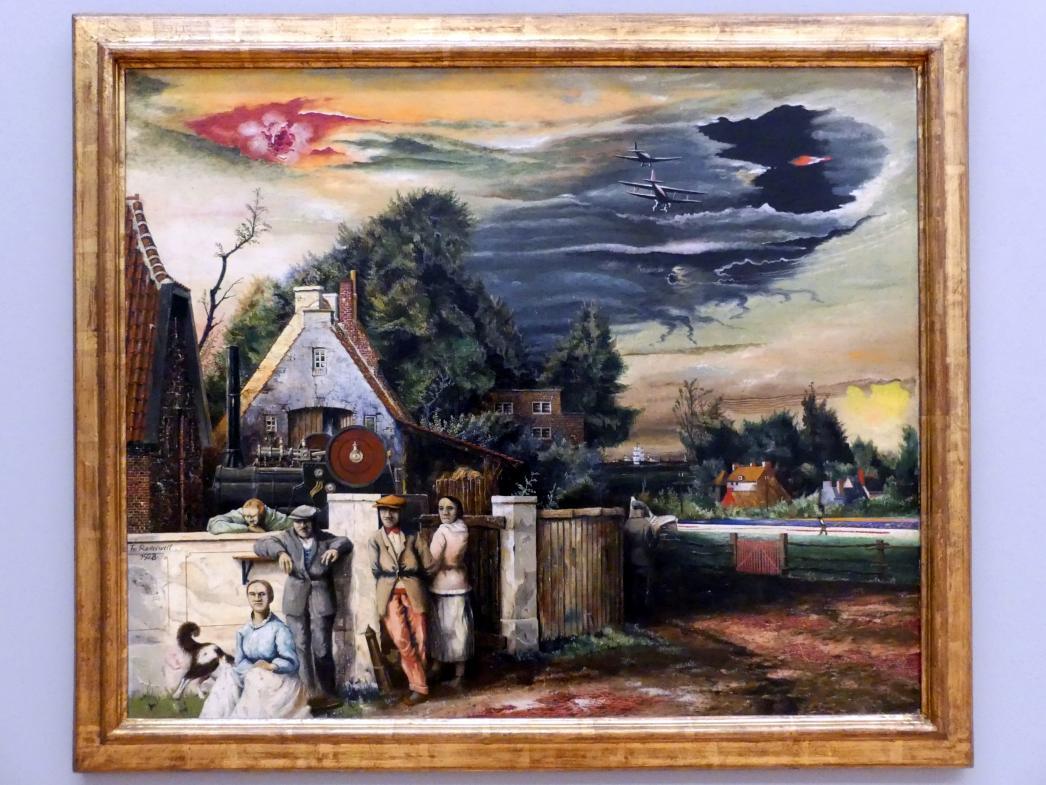 Franz Radziwill: Dorfeingang / Ende eines Arbeitstages, 1928