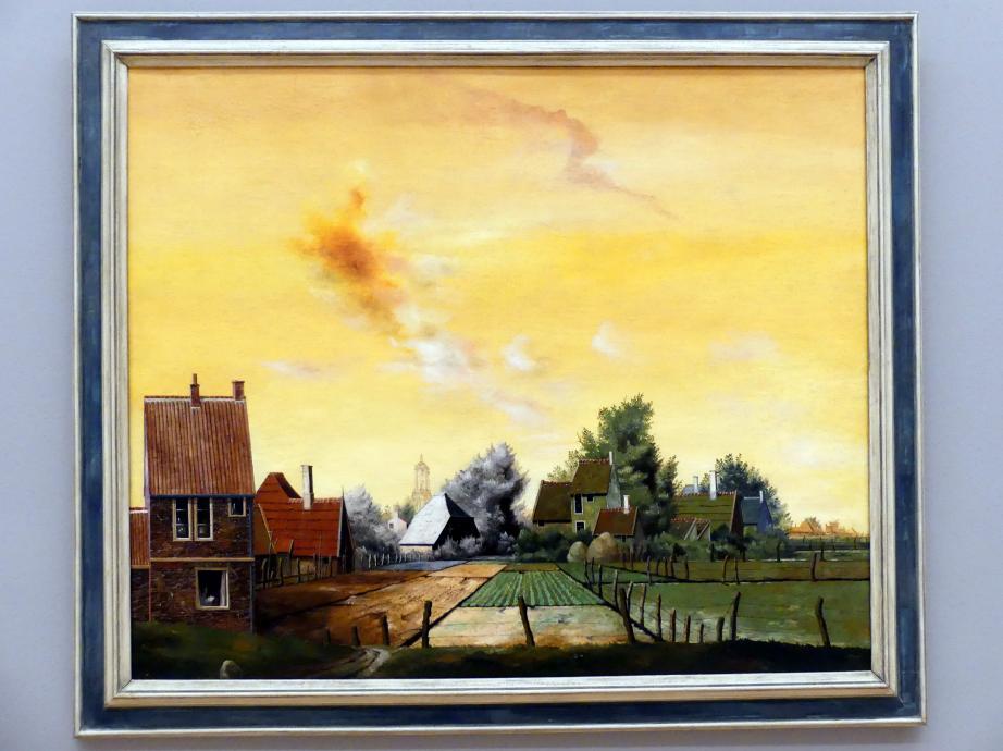 Franz Radziwill: Landschaft mit gelbem Himmel, 1930