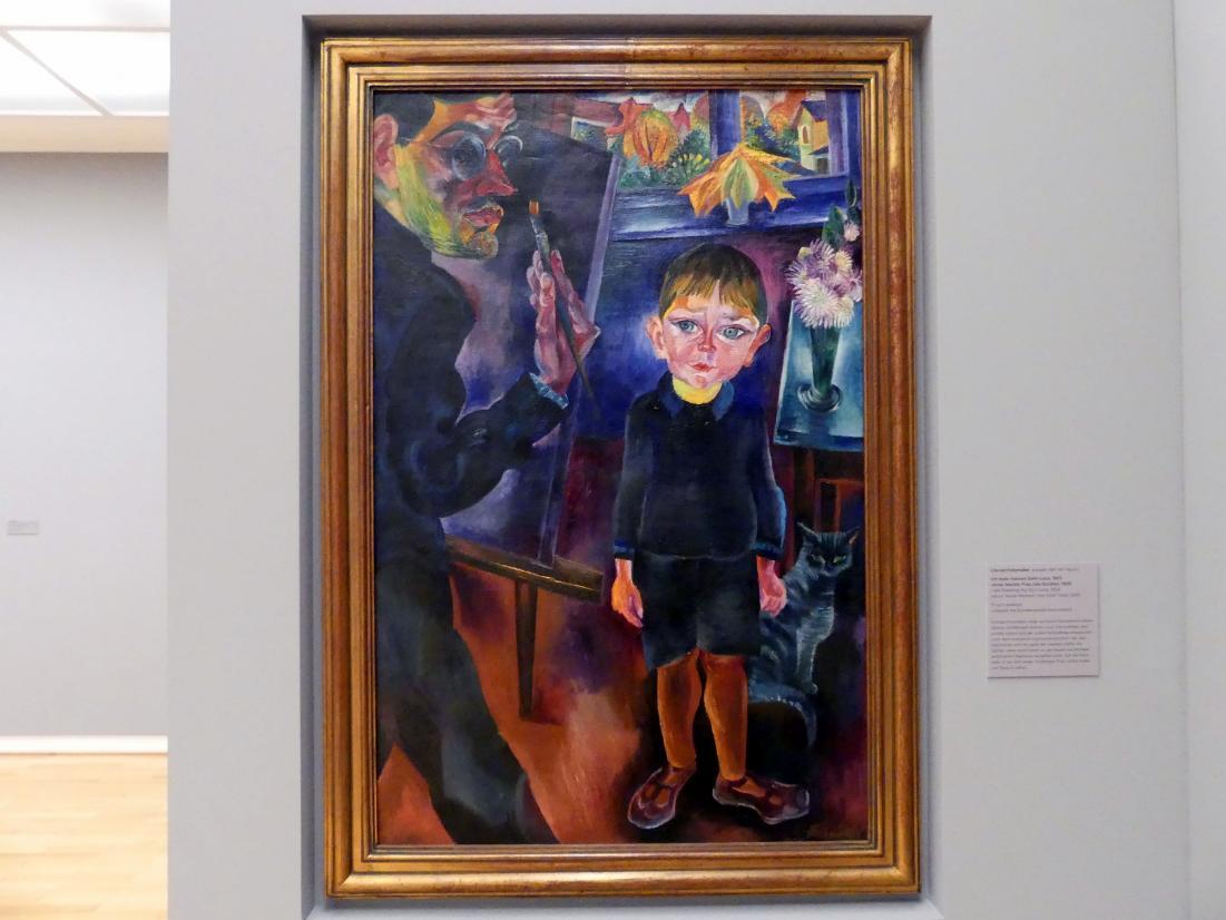 Conrad Felixmüller: Ich male meinen Sohn Luca, 1923