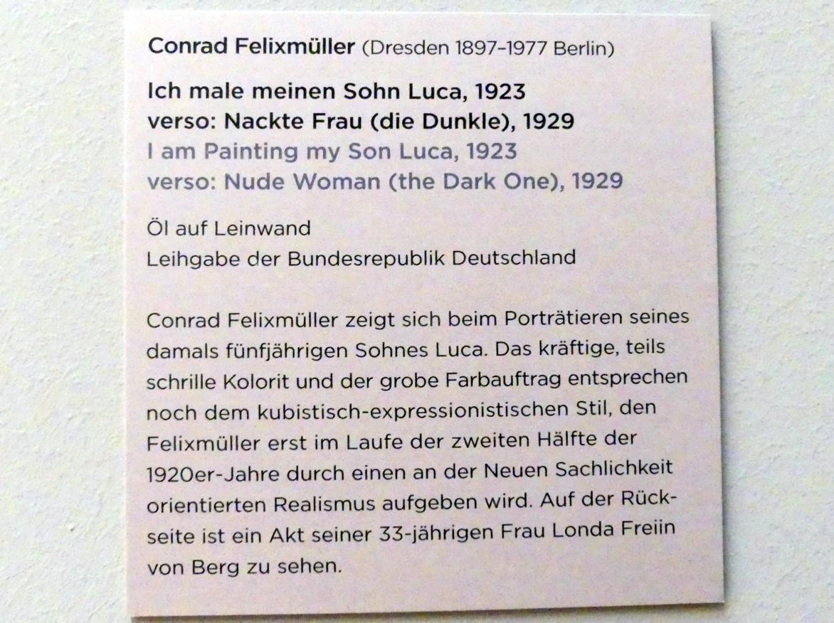 Conrad Felixmüller: Ich male meinen Sohn Luca, 1923, Bild 2/2