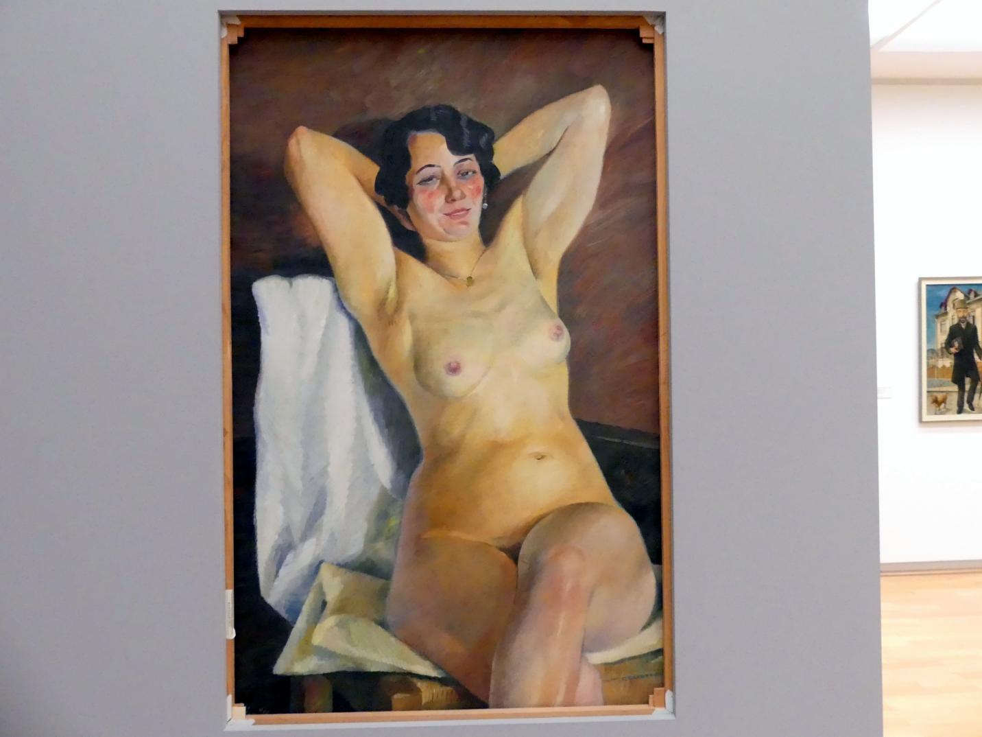 Conrad Felixmüller: Nackte Frau (die Dunkle), 1929