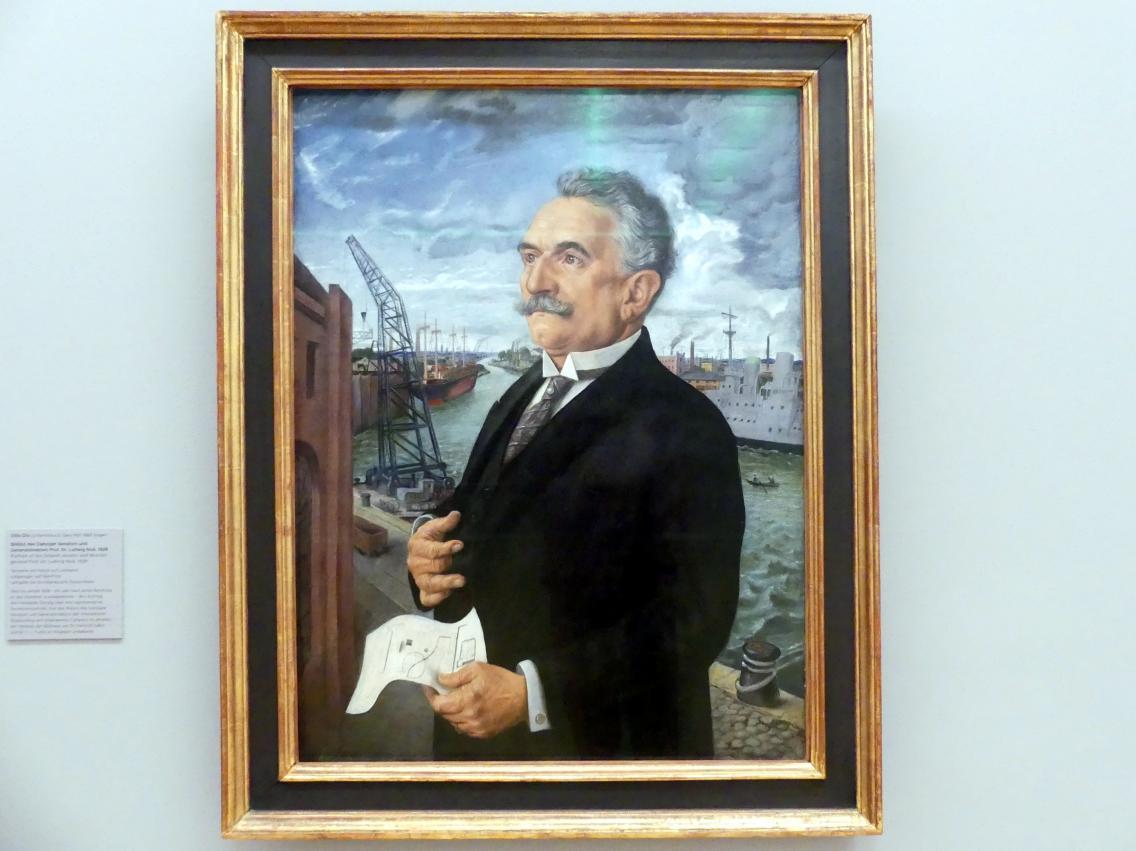 Otto Dix: Bildnis des Danziger Senators und Generaldirektors Prof. Dr. Ludwig Noë, 1928