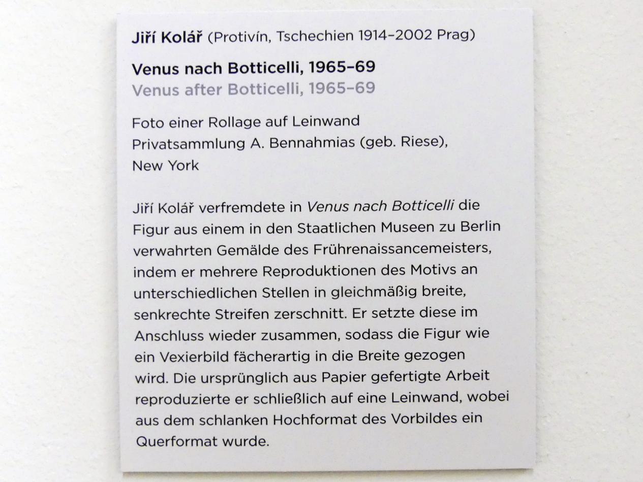 Jiří Kolář: Venus nach Botticelli, 1965 - 1969, Bild 4/4