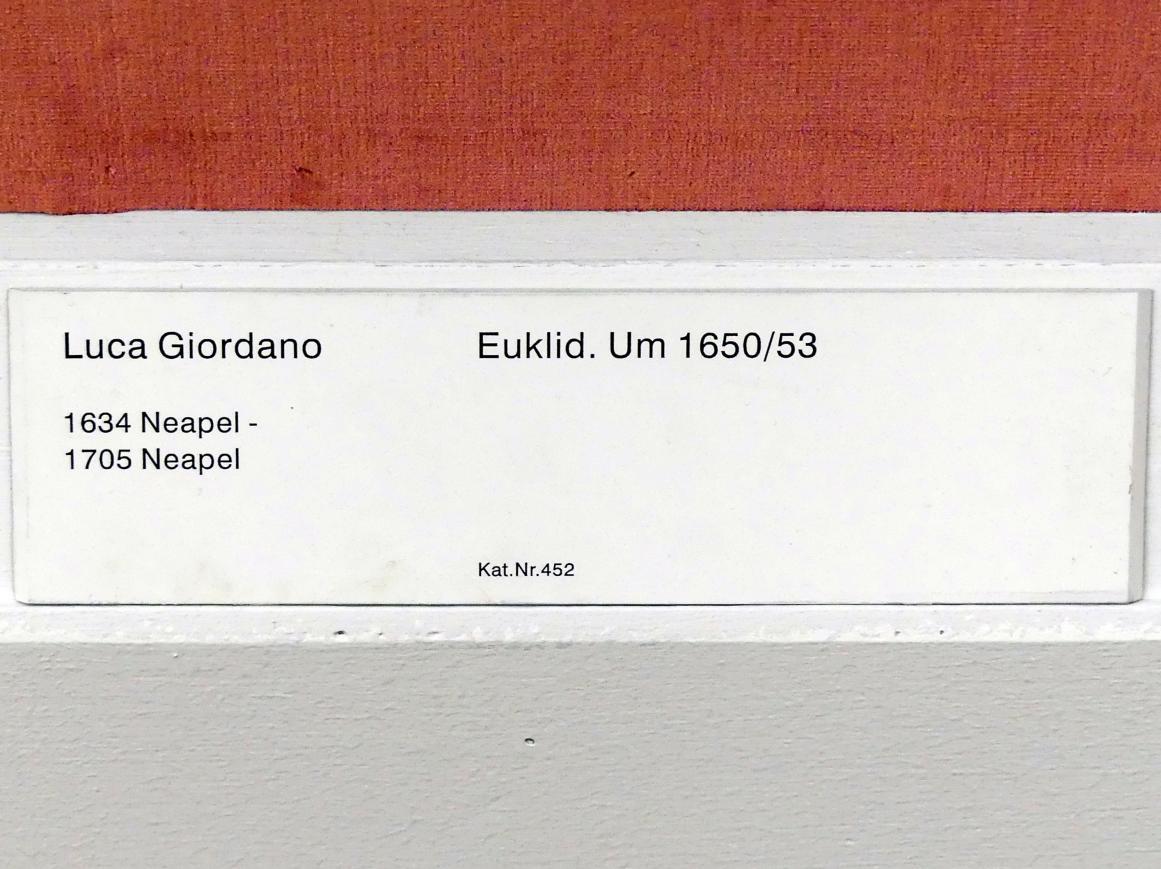 Luca Giordano: Euklid, um 1650 - 1653, Bild 2/2