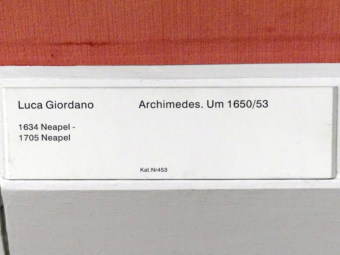 Luca Giordano: Archimedes, Um 1650 - 1653
