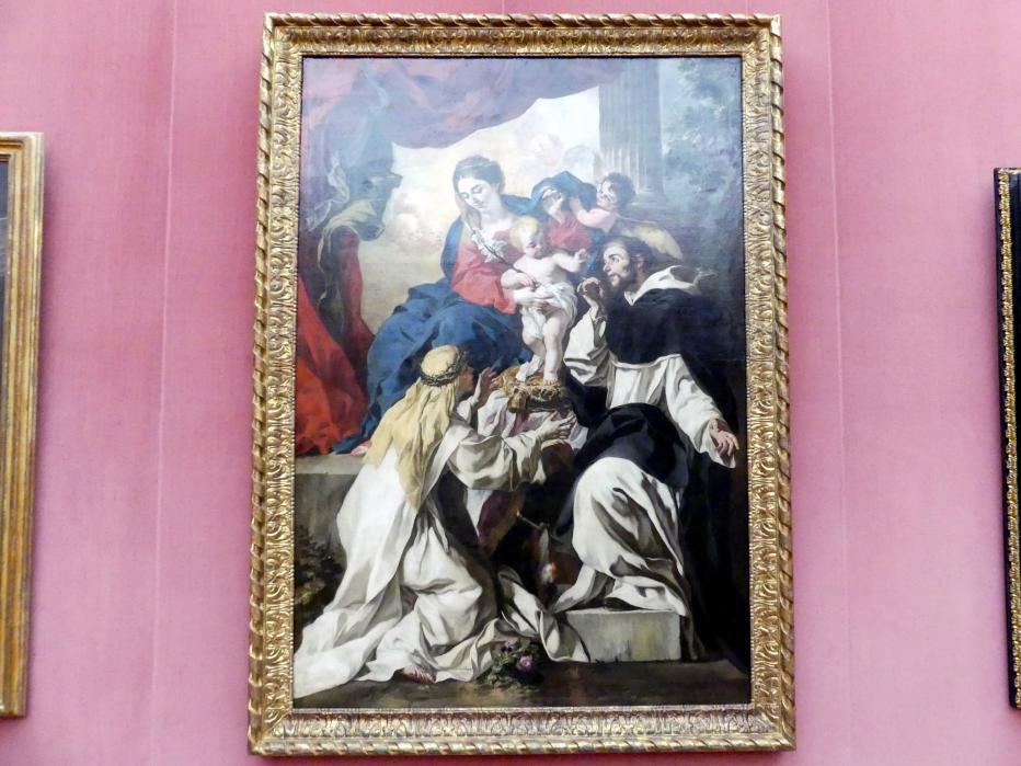 Francesco Solimena: Thronende Maria mit dem Kind, dem hl. Dominikus und der hl. Katharina von Siena, um 1680 - 1681