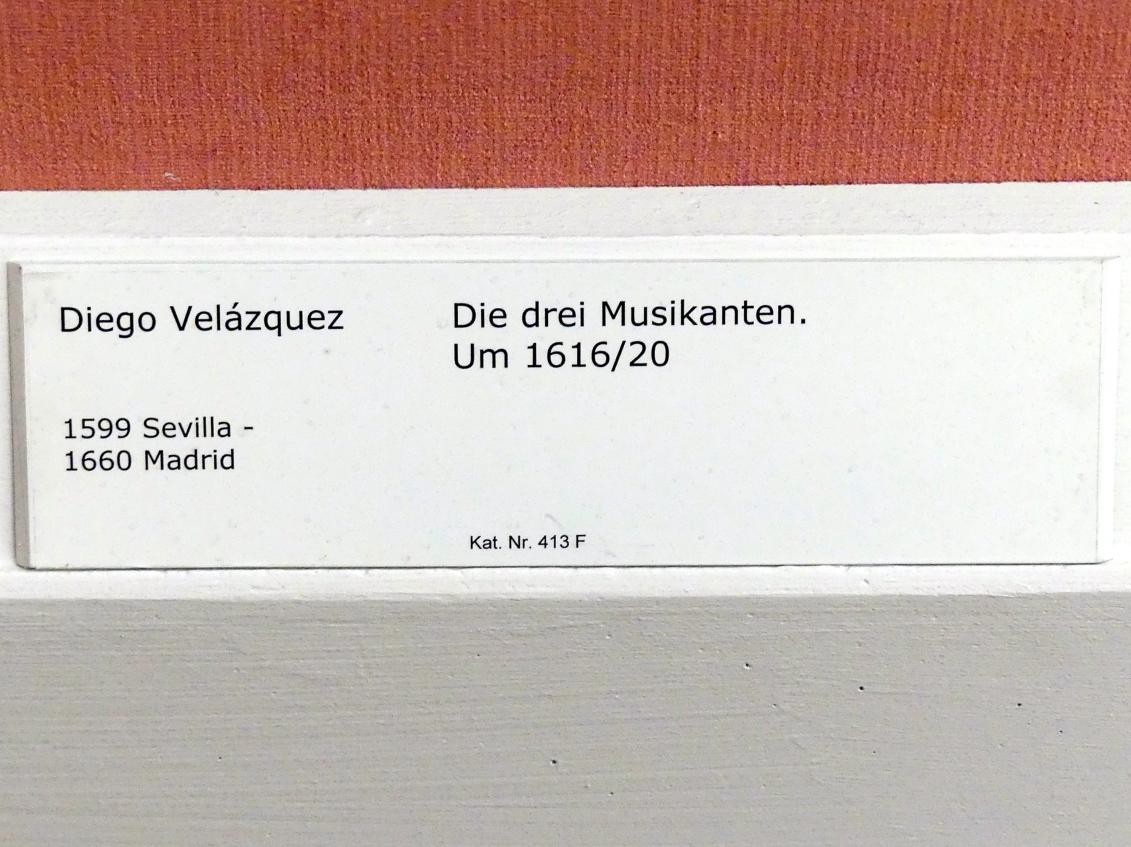 Diego Rodríguez de Silva y Velázquez: Die drei Musikanten, um 1616 - 1620, Bild 2/2