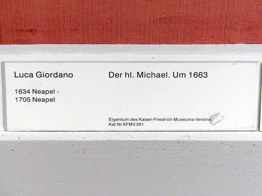 Luca Giordano: Der hl. Michael, Um 1663