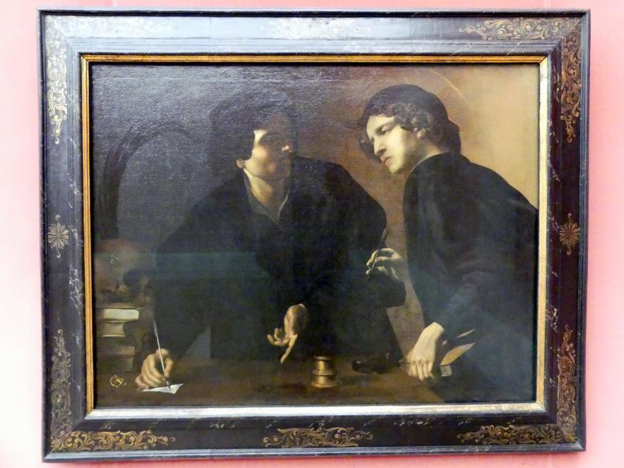 Giovanni Battista Caracciolo (Battistello): Doppelportrait zweier Ärzte als hll. Cosmas und Damian, um 1623 - 1626