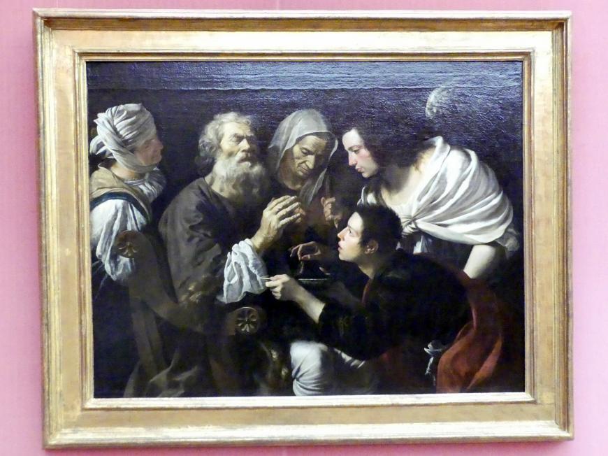 Michelangelo Merisi da Caravaggio (Nachfolger): Die Heilung des Tobias, um 1615 - 1620