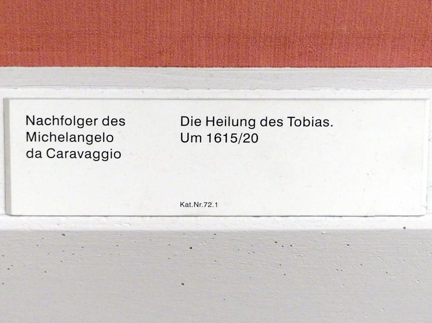 Michelangelo Merisi da Caravaggio (Nachfolger): Die Heilung des Tobias, um 1615 - 1620, Bild 2/2