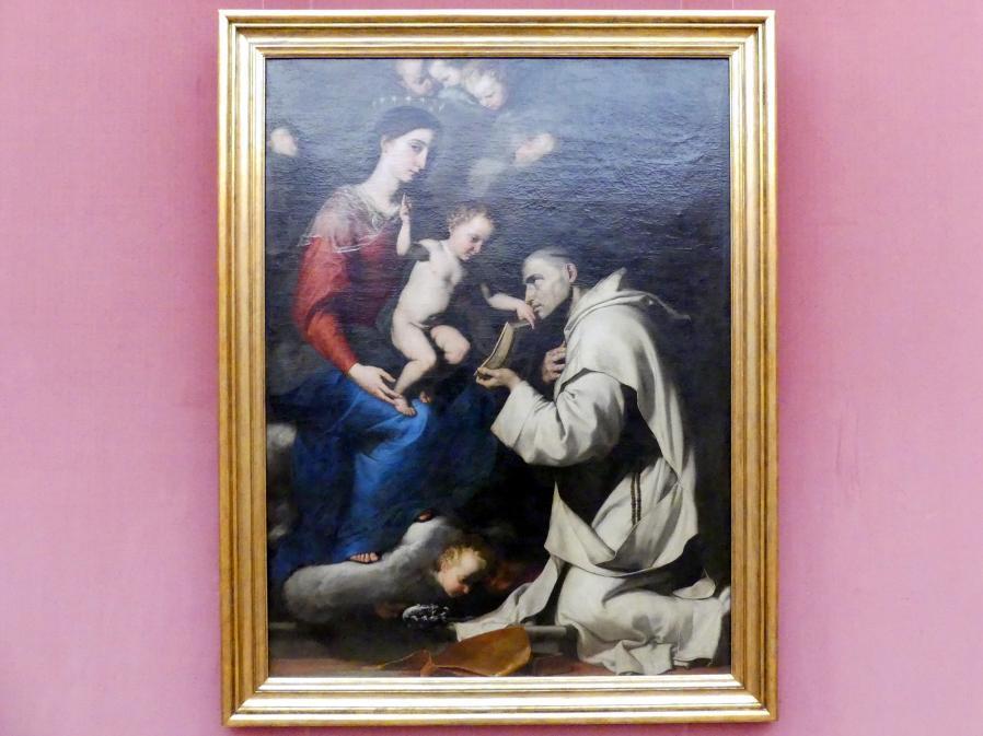 Jusepe de Ribera: Madonna mit Kind und dem hl. Bruno, 1624