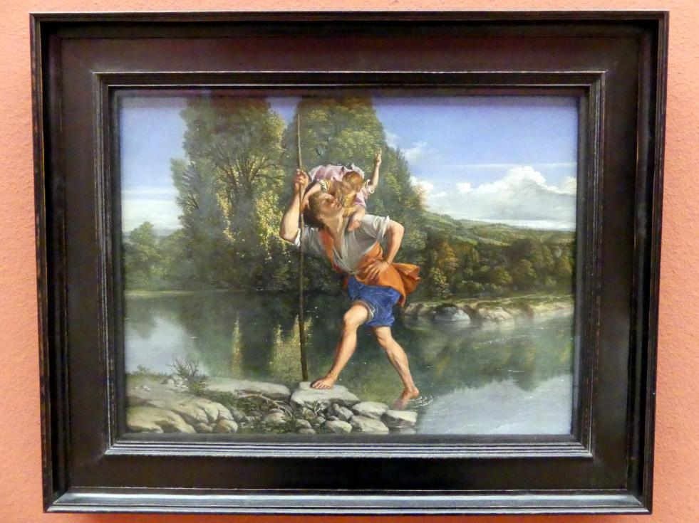 Orazio Gentileschi: Landschaft mit dem heiligen Christophorus, um 1610 - 1615