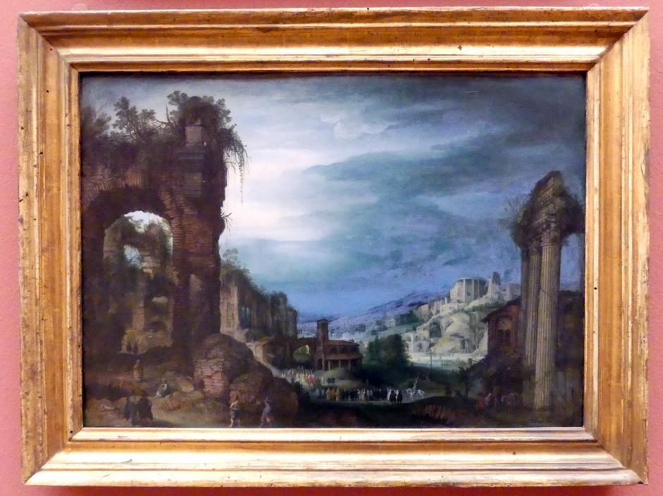 Paul Bril: Römische Ruinenlandschaft mit einer Prozession, Undatiert