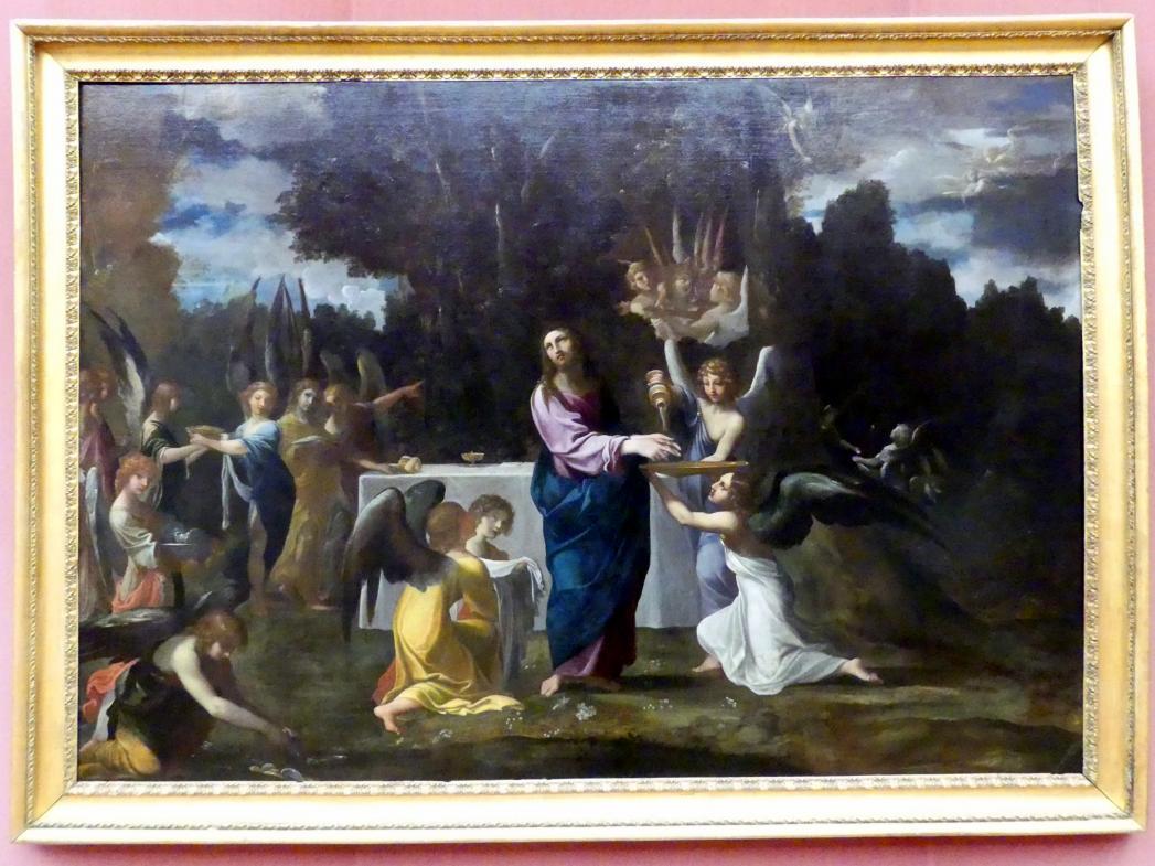 Ludovico Carracci: Christus in der Wüste, von Engeln bedient, um 1608 - 1610