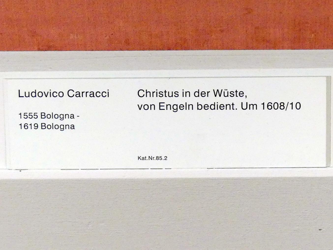Ludovico Carracci: Christus in der Wüste, von Engeln bedient, um 1608 - 1610, Bild 2/2
