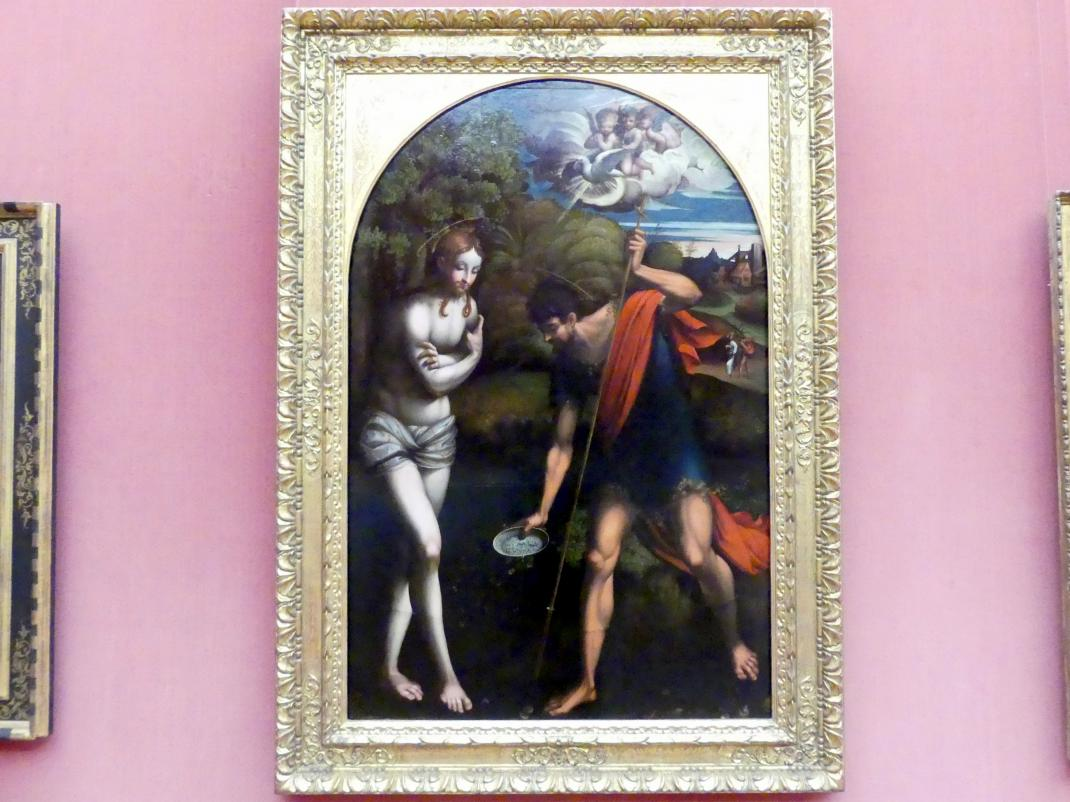 Parmigianino (Girolamo Francesco Maria Mazzola): Die Taufe Christi, um 1519, Bild 1/2