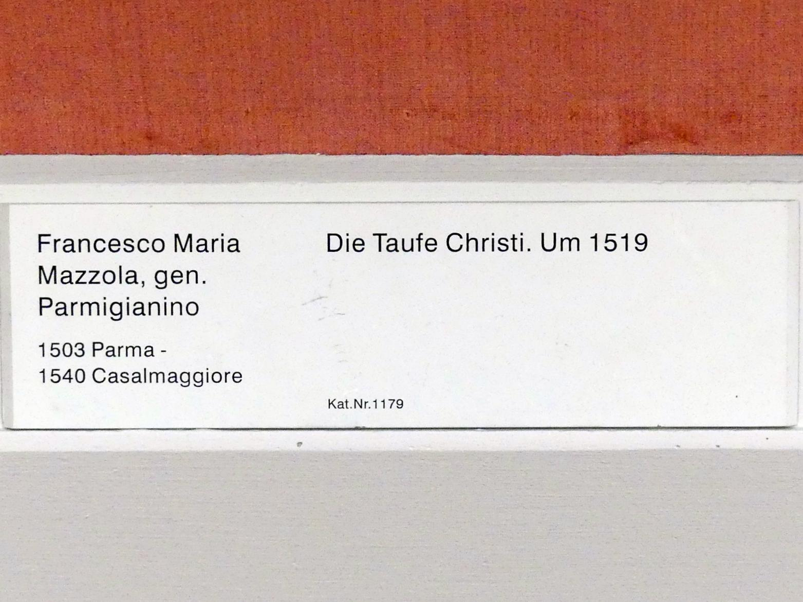 Parmigianino (Girolamo Francesco Maria Mazzola): Die Taufe Christi, um 1519, Bild 2/2