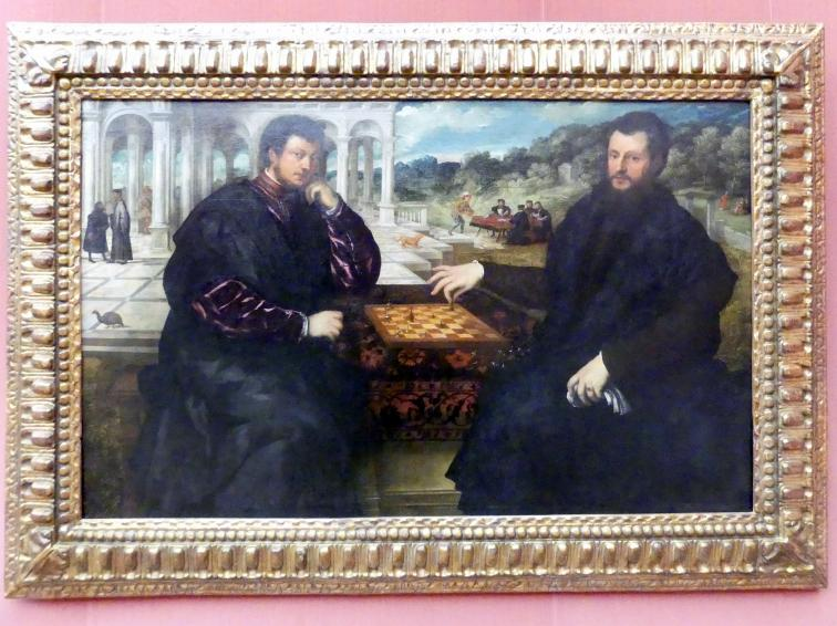 Paris Bordone: Zwei Schachspieler, Um 1540