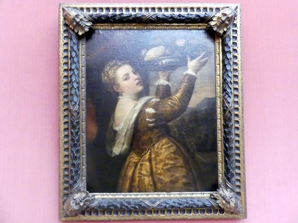 Tiziano Vecellio (Tizian): Mädchen mit Fruchtschale, um 1555