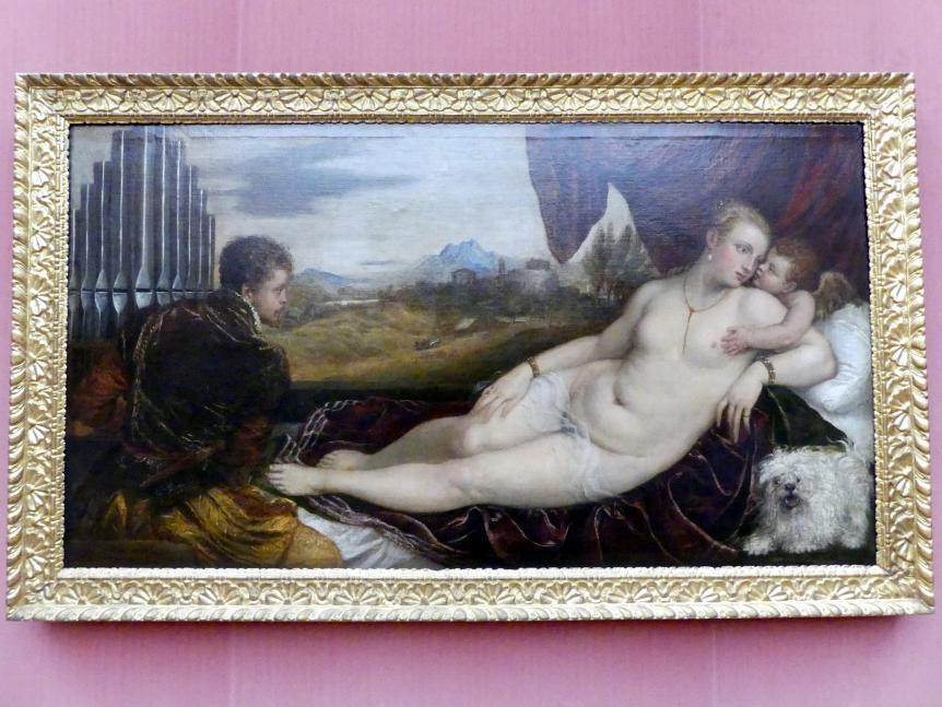 Tiziano Vecellio (Tizian): Venus mit dem Orgelspieler, um 1550 - 1552