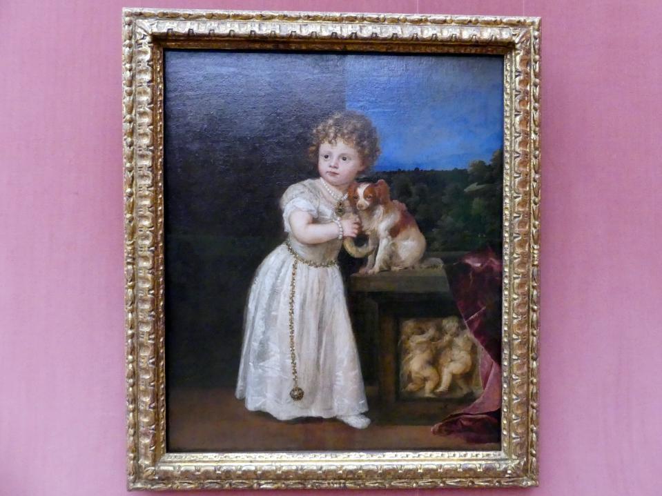Tiziano Vecellio (Tizian): Clarissa Strozzi (1540-1581) im Alter von 2 Jahren, 1542