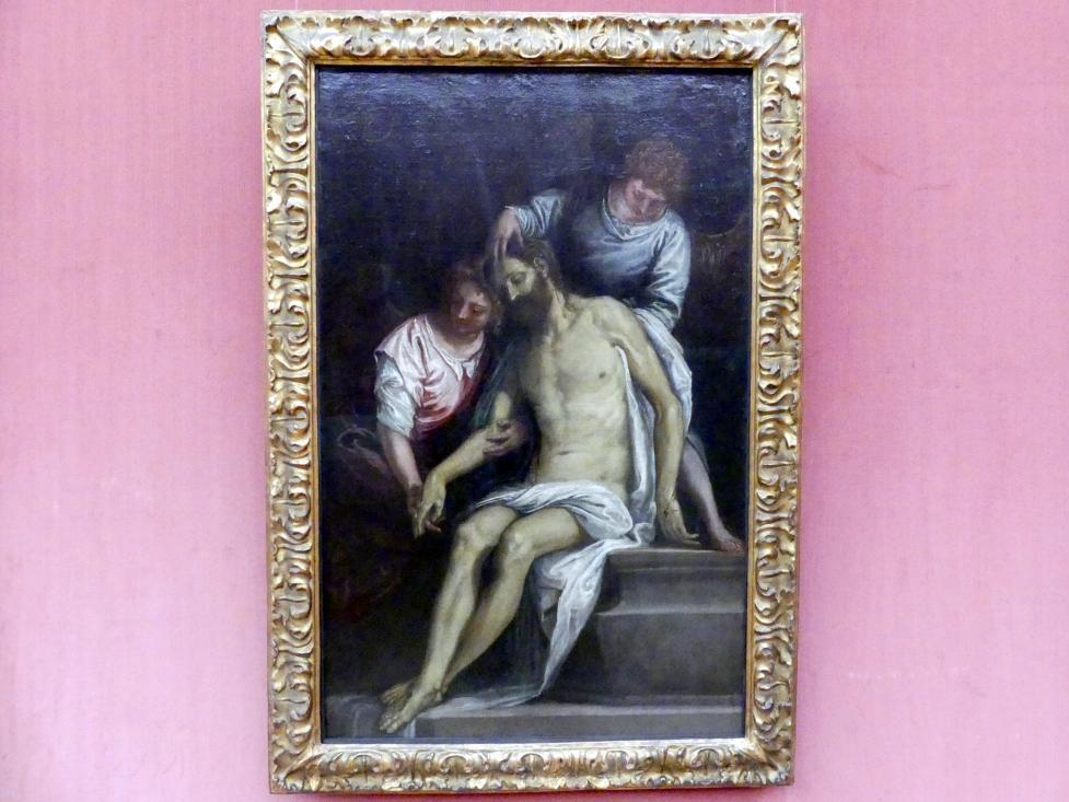 Paolo Caliari (Veronese): Der tote Christus im Grabe, von zwei trauernden Engeln gestützt, Um 1585 - 1588