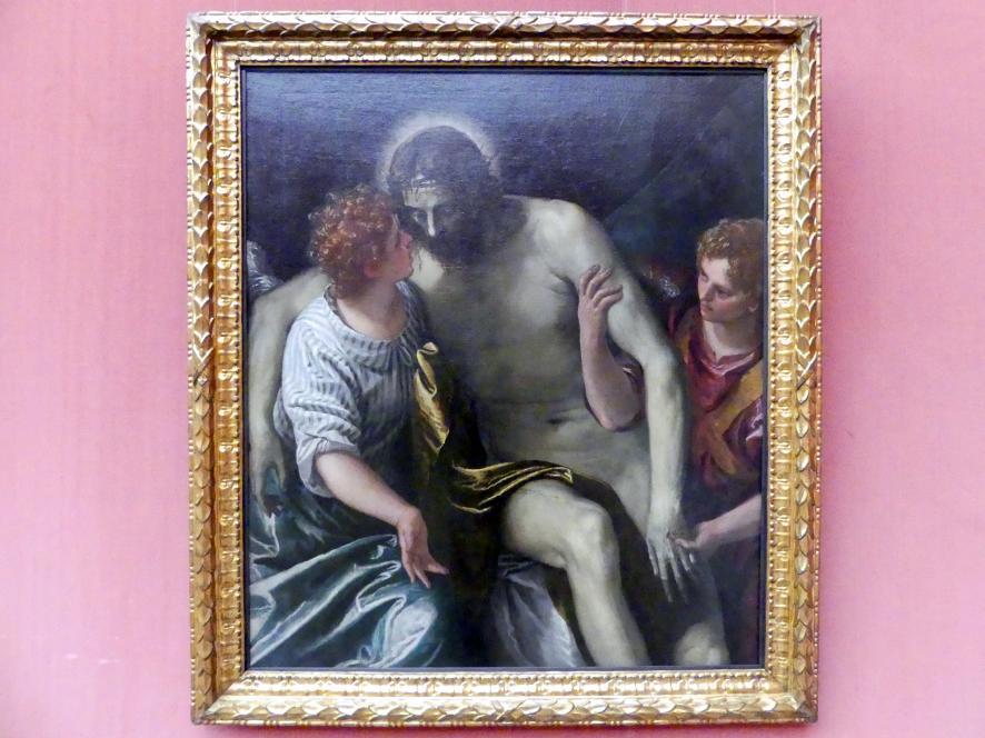 Paolo Caliari (Veronese): Der tote Christus, von zwei trauernden Engeln gestützt, vor 1588