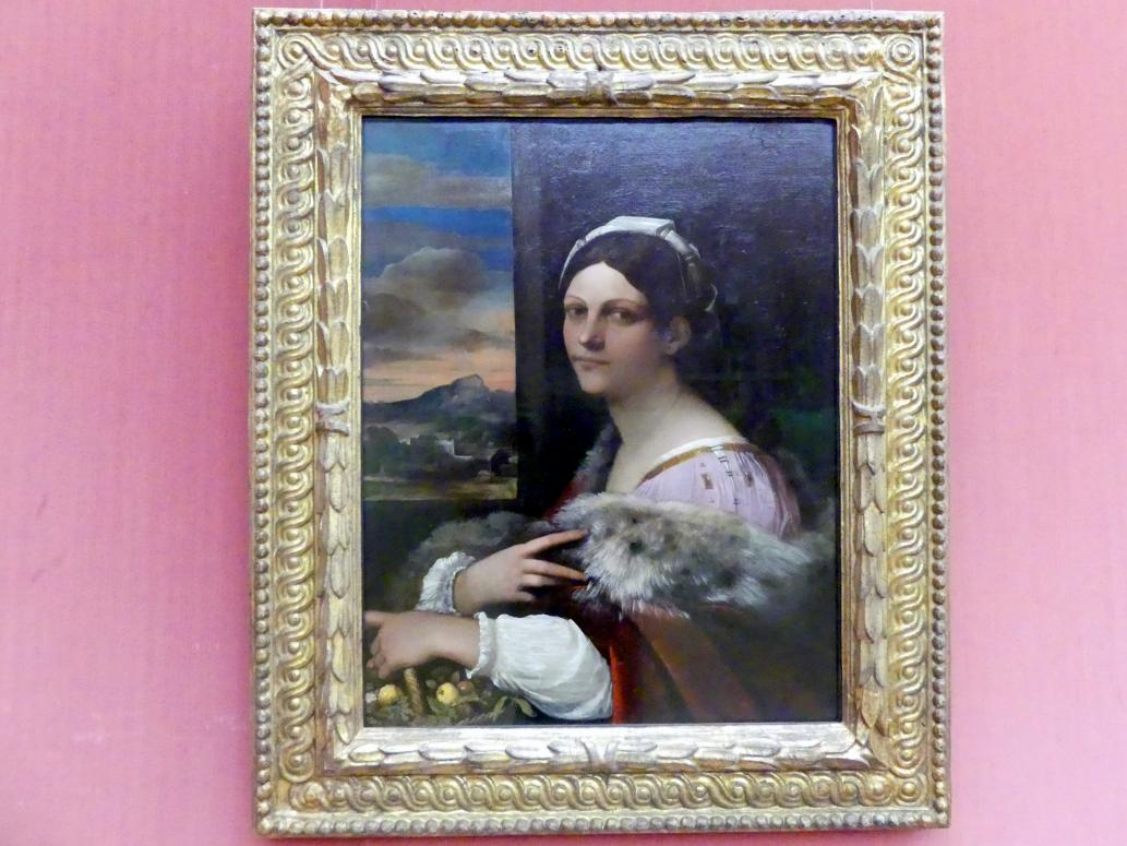 Sebastiano Luciani (Sebastiano del Piombo): Bildnis einer jungen Römerin, um 1512 - 1513