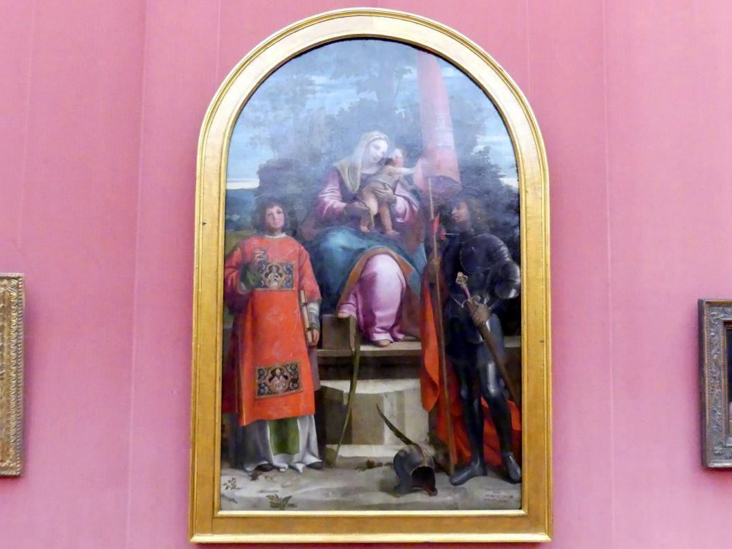 Lorenzo Luzzo: Thronende Maria mit dem Kind sowie den hll. Stephanus und Viktor, 1511