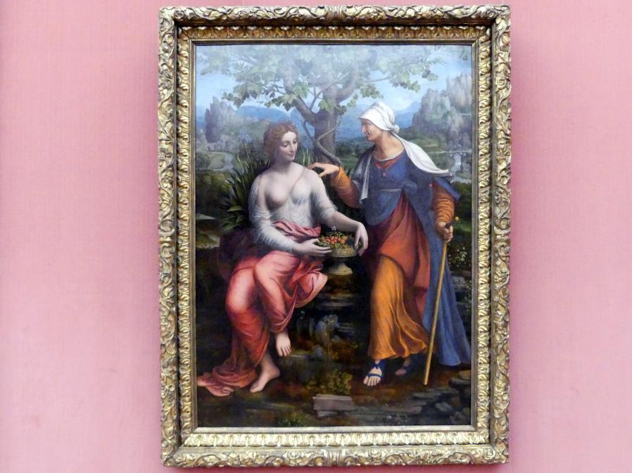 Francesco Melzi: Vertumnus und Pomona, um 1518 - 1522, Bild 1/2
