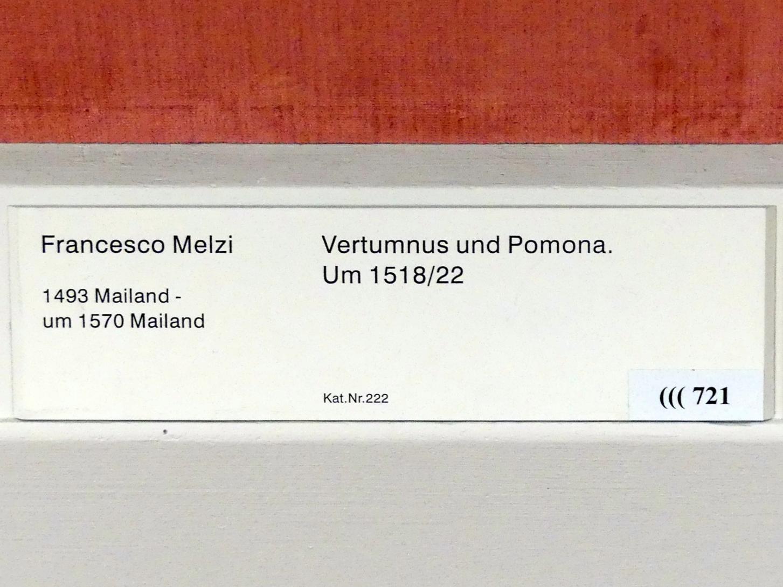 Francesco Melzi: Vertumnus und Pomona, um 1518 - 1522, Bild 2/2