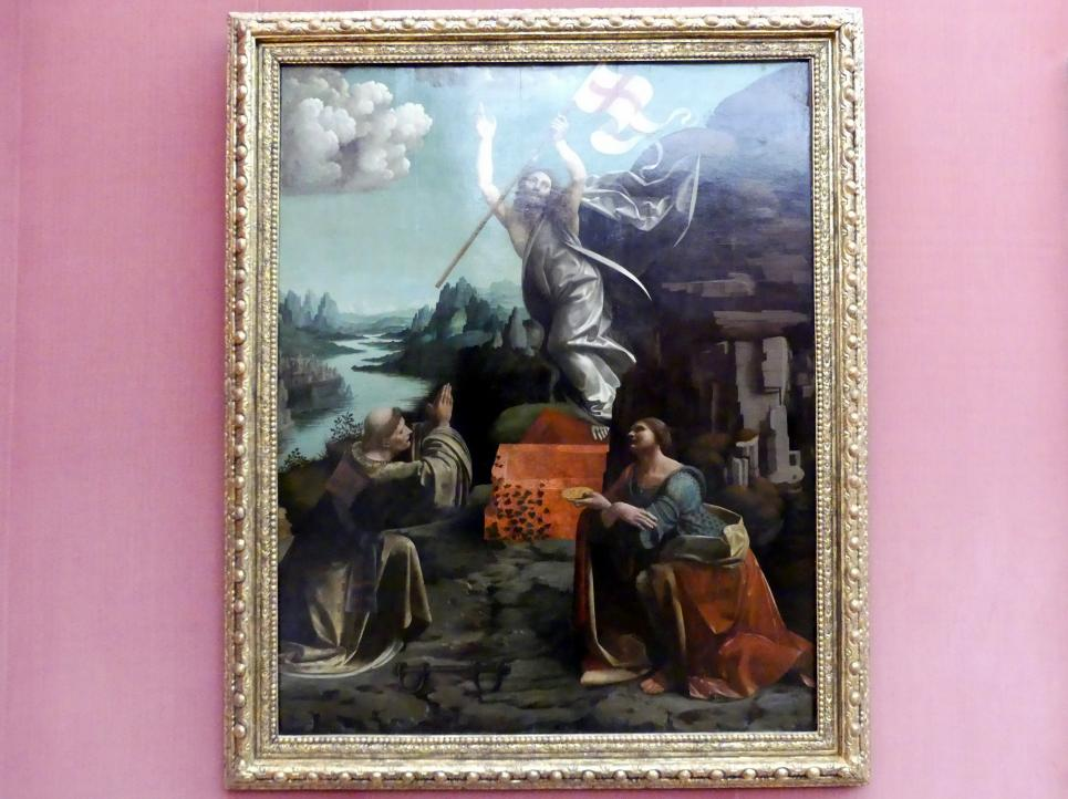 Giovanni Antonio Boltraffio: Die Auferstehung Christi mit den hll. Leonhard von Noblac und Lucia, 1491 - 1949