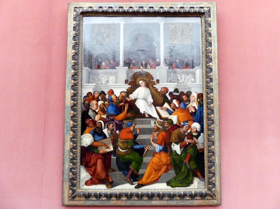 Ludovico Mazzolino: Der zwölfjährige Jesus im Tempel lehrend, 1524