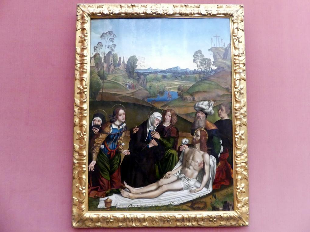 Domenico Panetti: Die Beweinung Christi mit einem Stifter, um 1505
