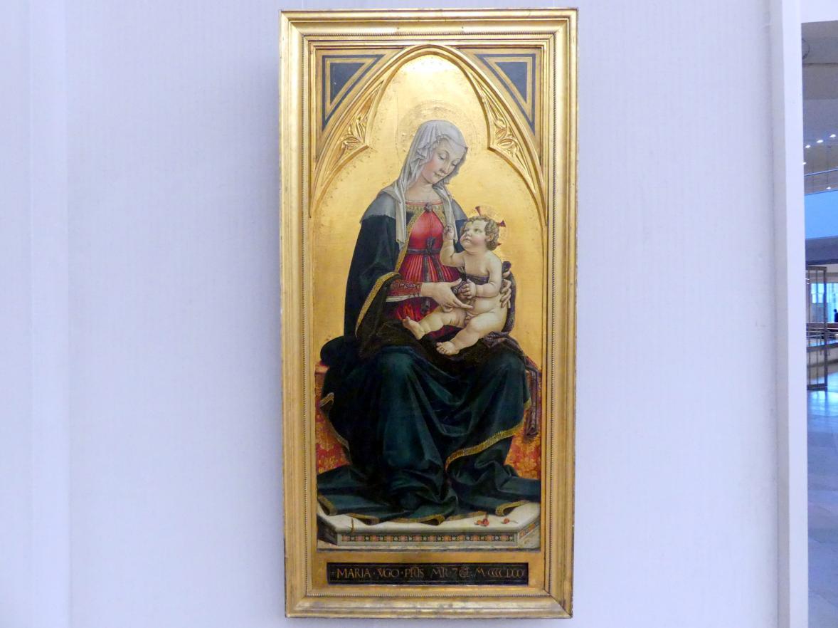 Piermatteo d'Amelia: Thronende Maria mit dem Kind, 1481