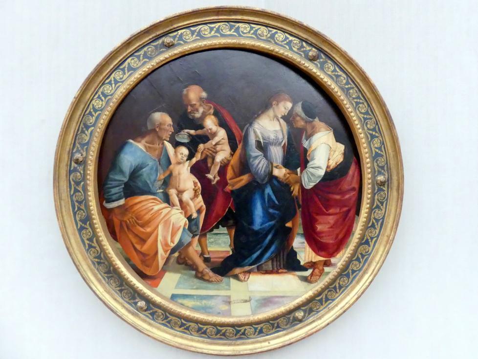 Luca Signorelli: Die Heilige Familie mit Zacharias, Elisabeth und dem Johannesknaben, nach 1512