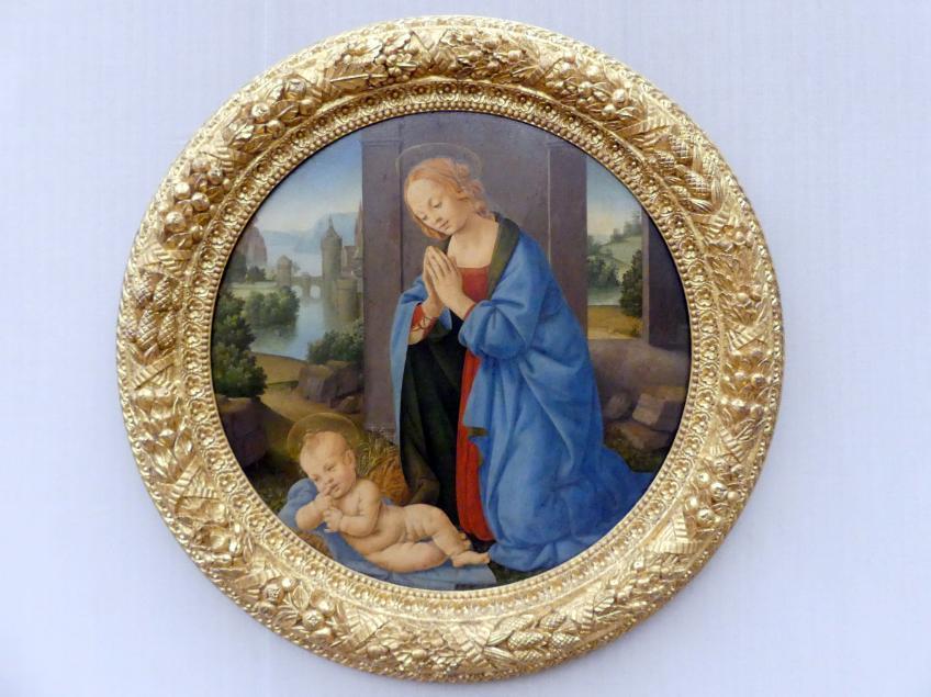 Lorenzo di Credi: Die Anbetung des Kindes, um 1480 - 1485