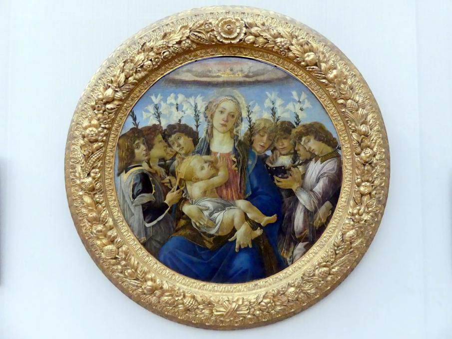 Sandro Botticelli: Maria mit dem Kind und singenden Engeln, um 1477