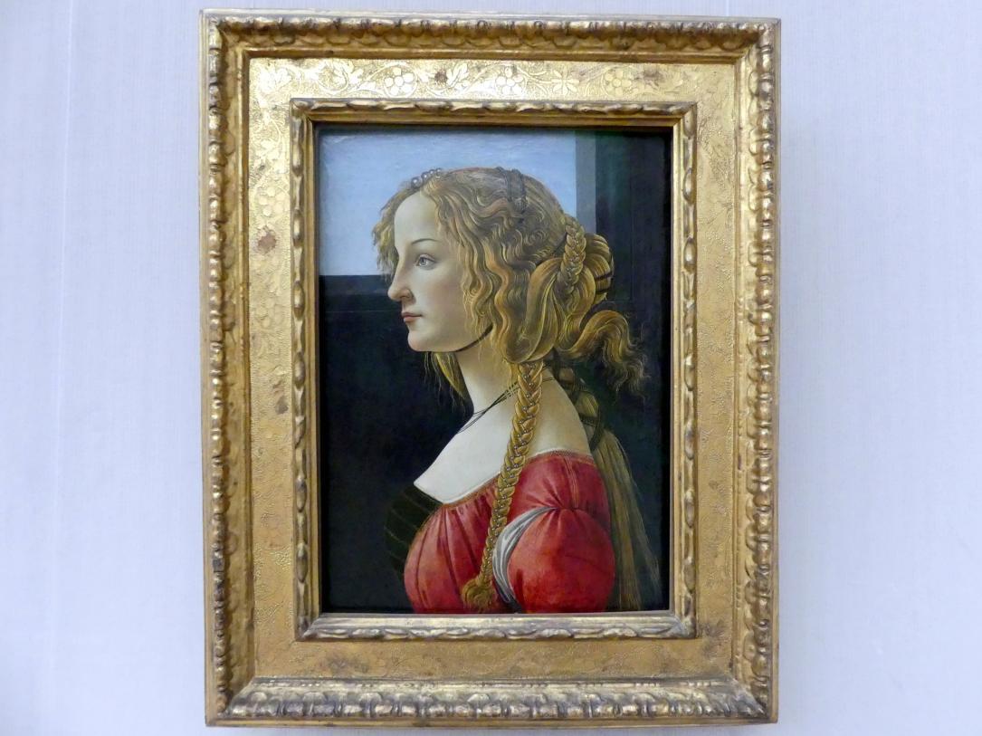 Sandro Botticelli: Profilbildnis einer jungen Frau, um 1460 - 1465