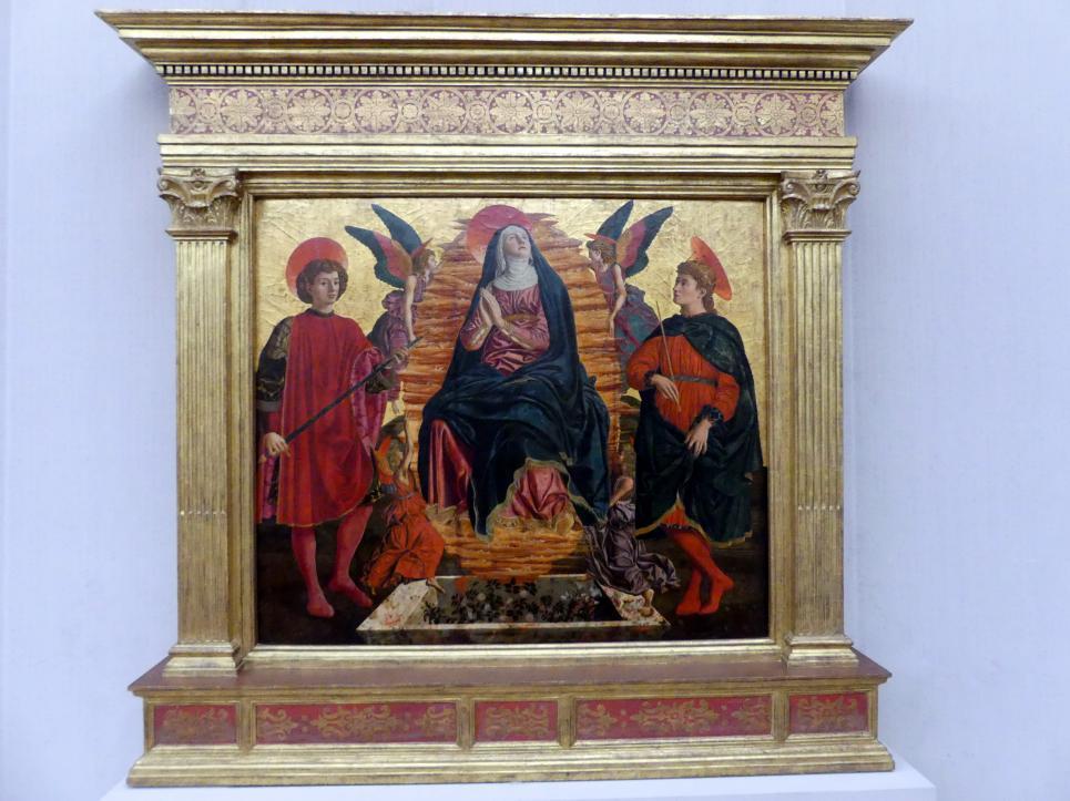 Andrea del Castagno: Die Himmelfahrt Mariae mit den hll. Julian und Minias, 1449 - 1450
