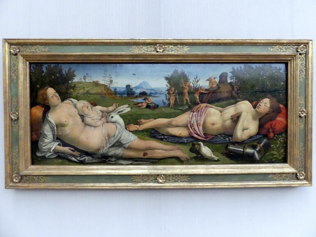 Piero di Cosimo: Venus, Mars und Amor, um 1505