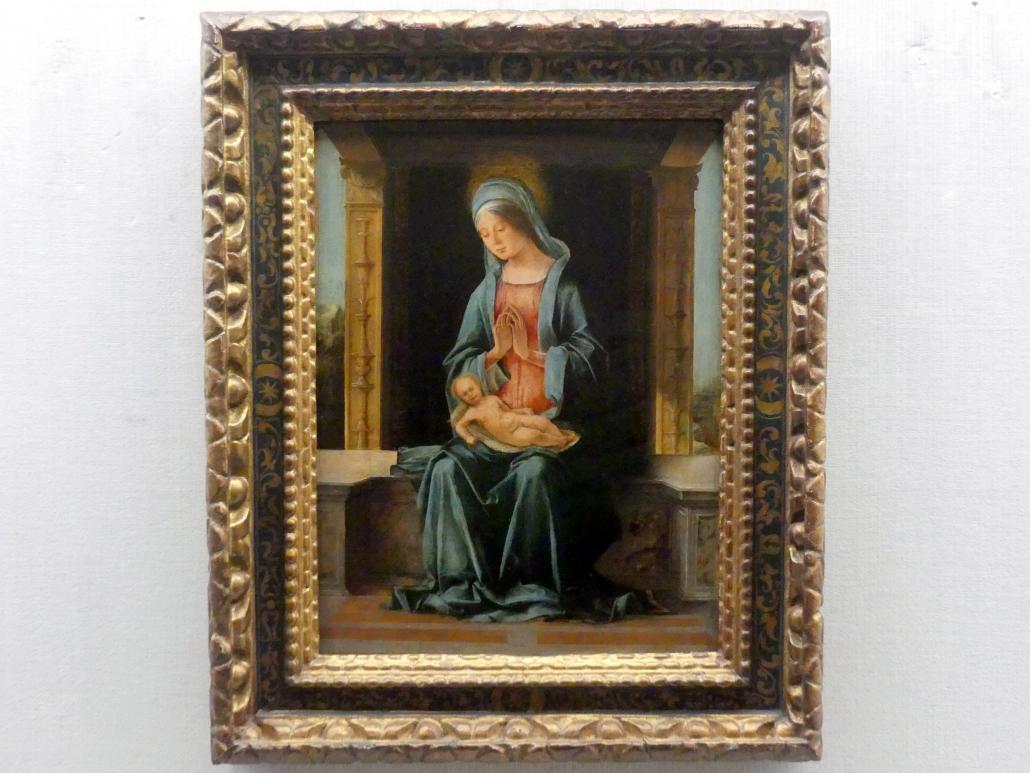 Ercole de' Roberti: Maria mit dem Kind, um 1486 - 1496